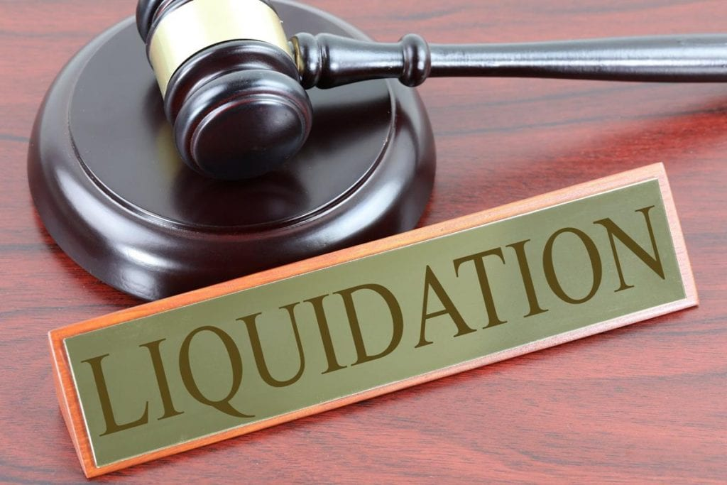 Substantial material required by CoC to approve liquidation